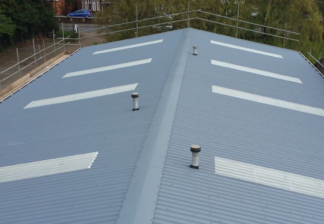 Plastisol & Metal Roof  After