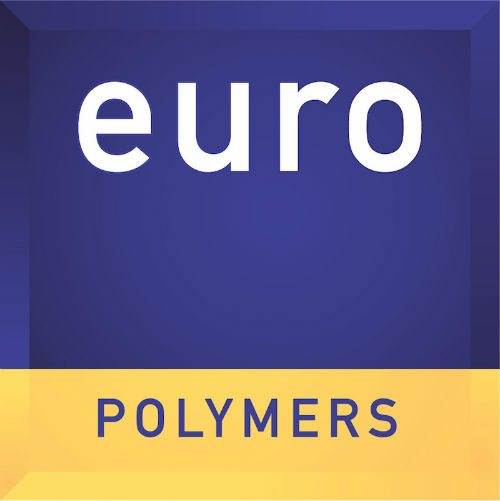 blue and yellow logo for europolymers